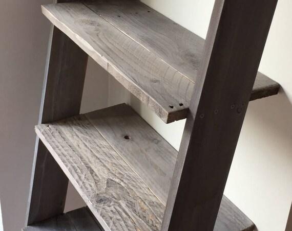 Ladder Shelf Gray - Barnwood