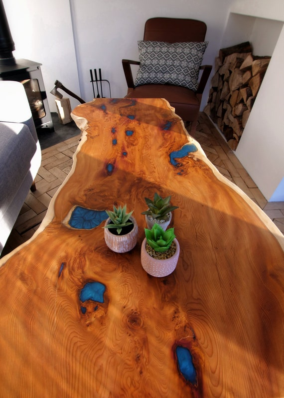 Large Yew Wood Coffee Table — SOLD OUT