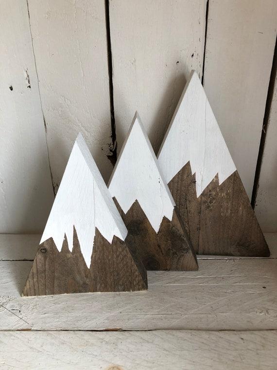 Wooden mountain decor