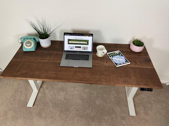 Walnut Standing Desk UK /Electric Desk / Adjustable Desk