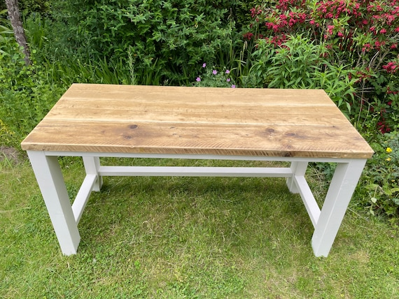Home Office Desk with Reclaimed Scaffold Board