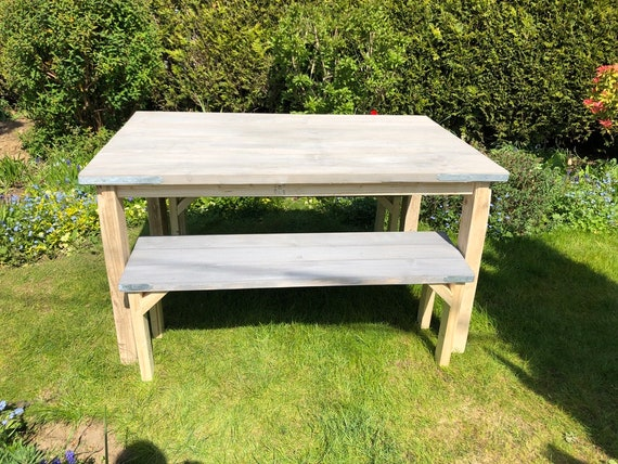 Dinning Table and Benches, Scaffold Table
