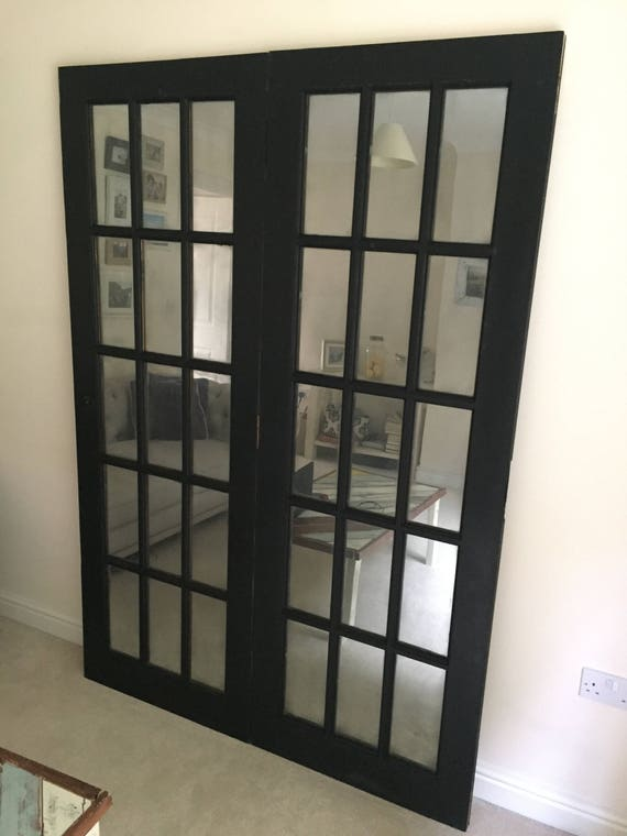 Large Mirror Wall made from French Doors