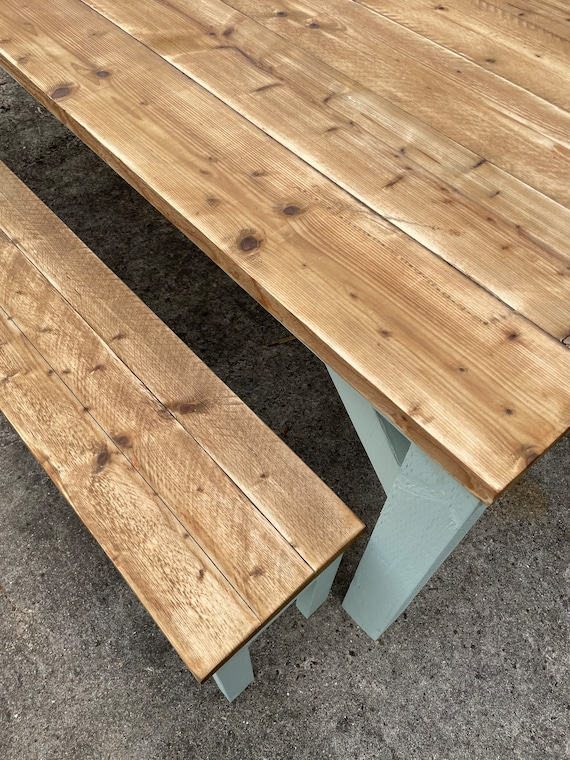 2.5 Meter Table and Benches, Scaffold Table