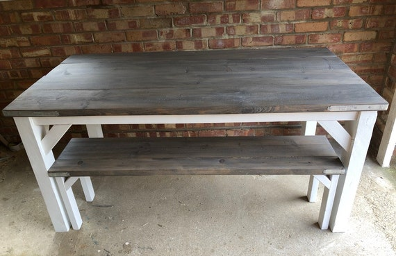 Industrial Table and Benches, Scaffold Table