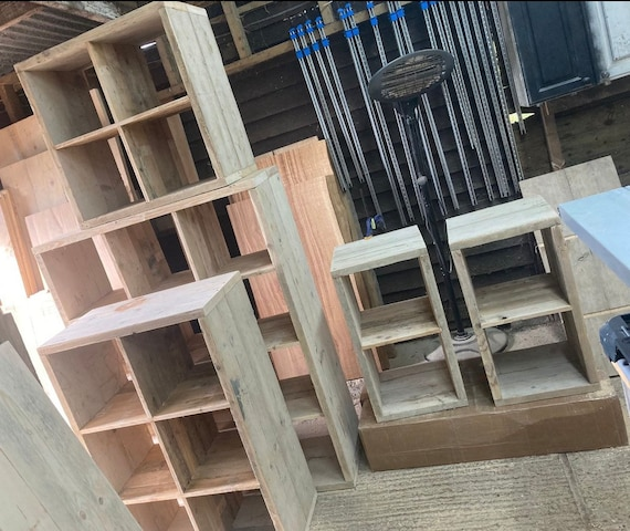 Scaffold Cube Storage compatible with Kallax unit and other inserts