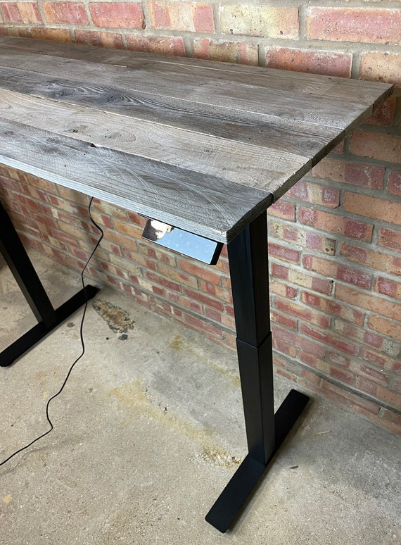 Pallet Wood Standing Desk UK /Electric Desk / Adjustable Desk
