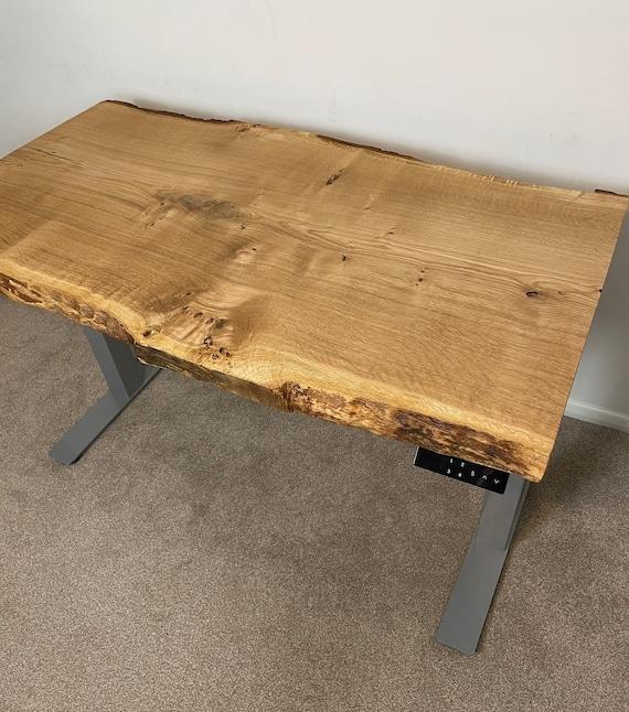Live Edge Oak Standing Desk UK /Electric Desk / Adjustable Desk