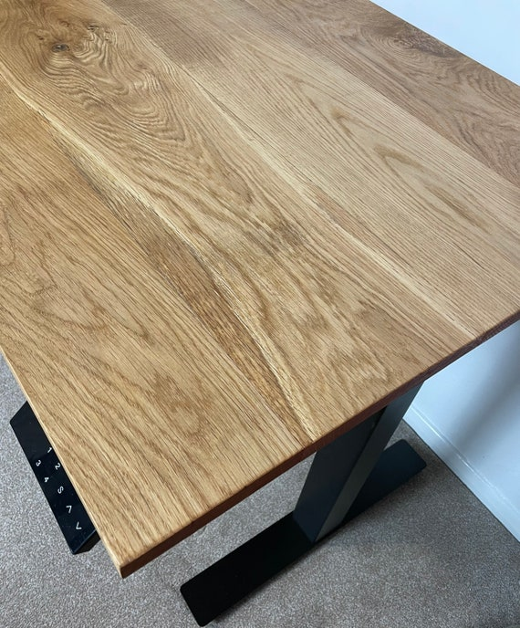 Electric Standing Desk French Character Oak