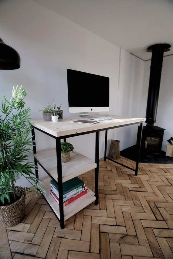 Home Office Desk with Scaffold Boards