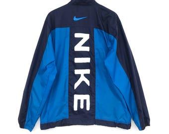 Nike Windbreaker Jacket Big Logo Spell Out Multicolour XL Size Wind Runner  Rain Jacket Light Jacket Sweater Hoodie Sweatshirt Vintage 90 s a505b2544
