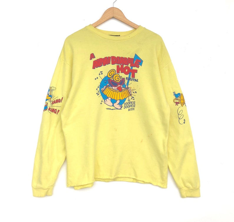 70746ccfa34 Hysteric Mini By Hysteric Glamour Sweatshirt Medium Size Yellow Colour  Jacket Sweatshirt Shirt Jumper Sweater Pullover Sweat Vintage 90's