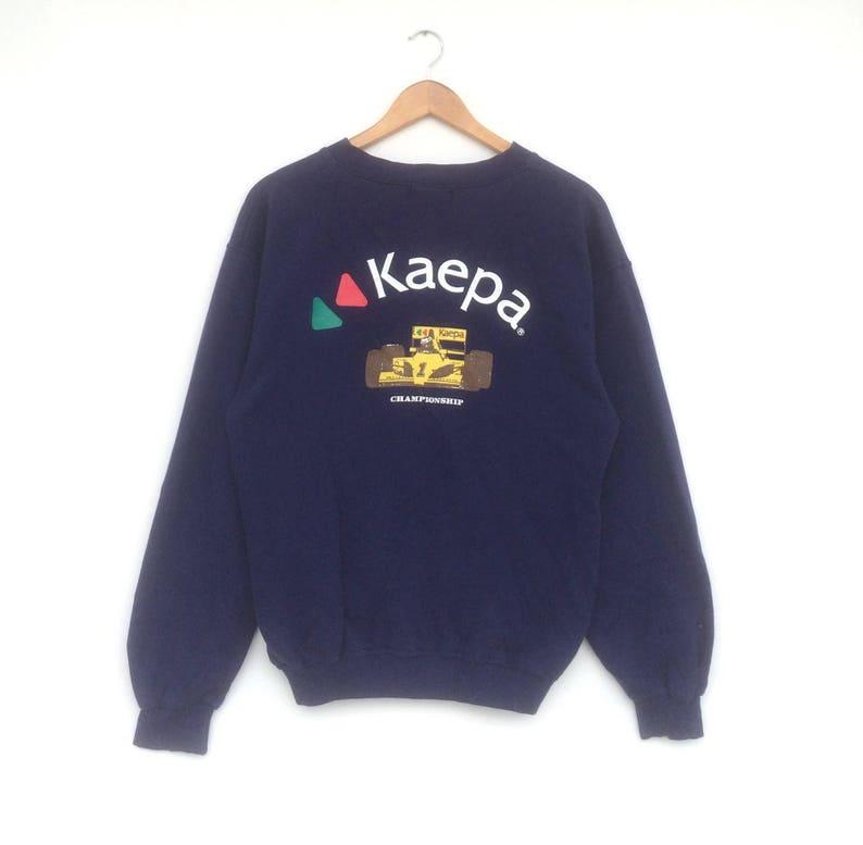 Kaepa Sweatshirt Zipper Sweater Big Logo Blie Colour Medium Size Jumper  Pullover Jacket Sweat Vintage 90's Shirt