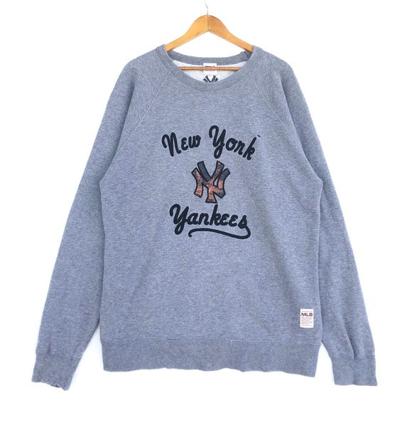 finest selection 26b97 04a17 New York Yankees Sweatshirt Jumper MLB Big Logo Grey Colour Large Size  Pullover Sweater Shirt Jacket Sweat Vintage 90's