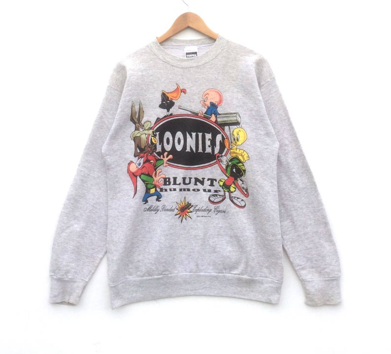 a73fb79be Looney Tunes Sweatshirt Loonies Big Logo Grey Colour Large