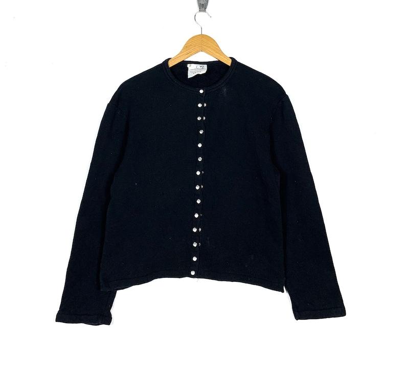Agnes B Paris Sweater Size 2 Black Colour Made in Japan Jumper Sweatshirt Pullover Shirt Jacket Vintage 90s Agnes B Women\u2019s