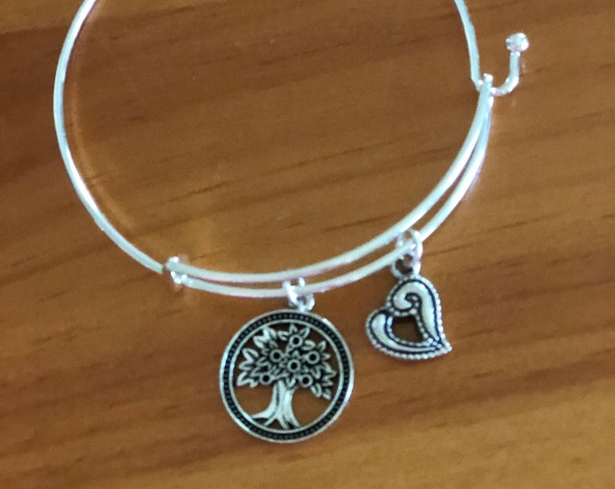 Ladies Silver Charm Bracelet