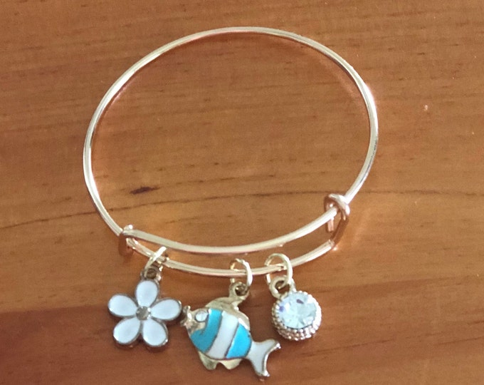 Girls Gold Charm Bracelet