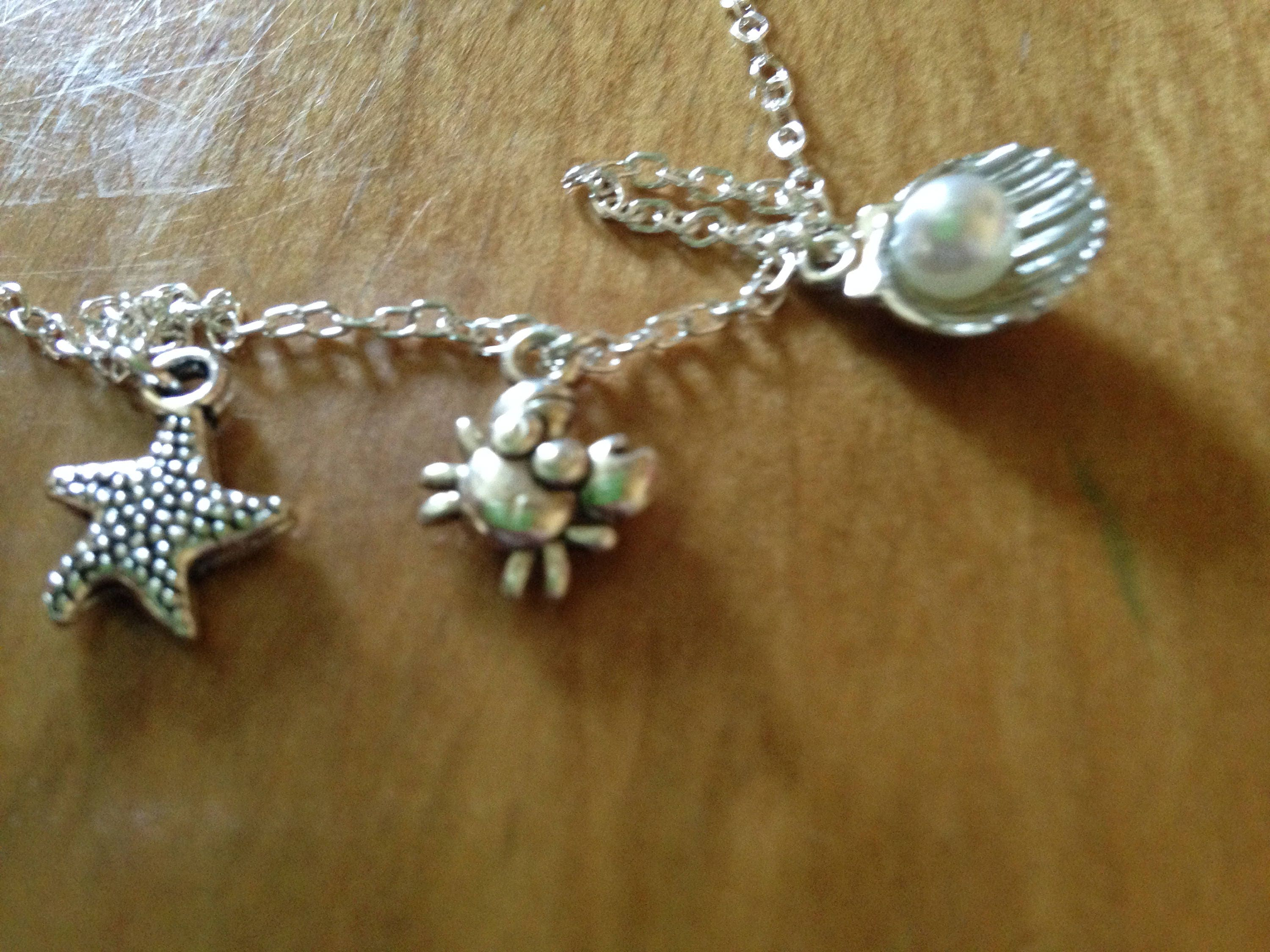 Starfish Crab And Seashell Ankle Bracelet