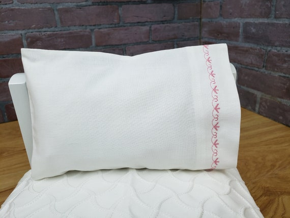 American Girl/Maplelea 18 in  Doll Bedding Custom Embroidered Pillowcase 6  Embroidery Color Options