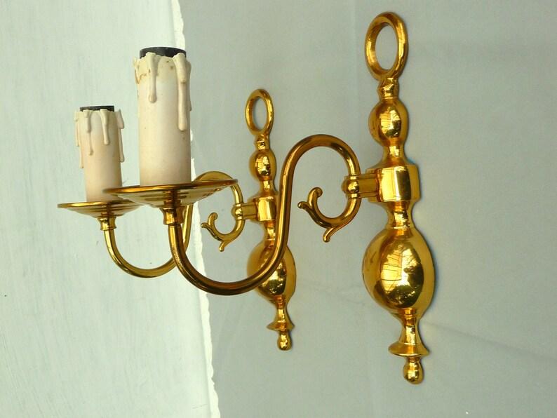 Art deco paire d appliques xxème bronze doré ciselé etsy