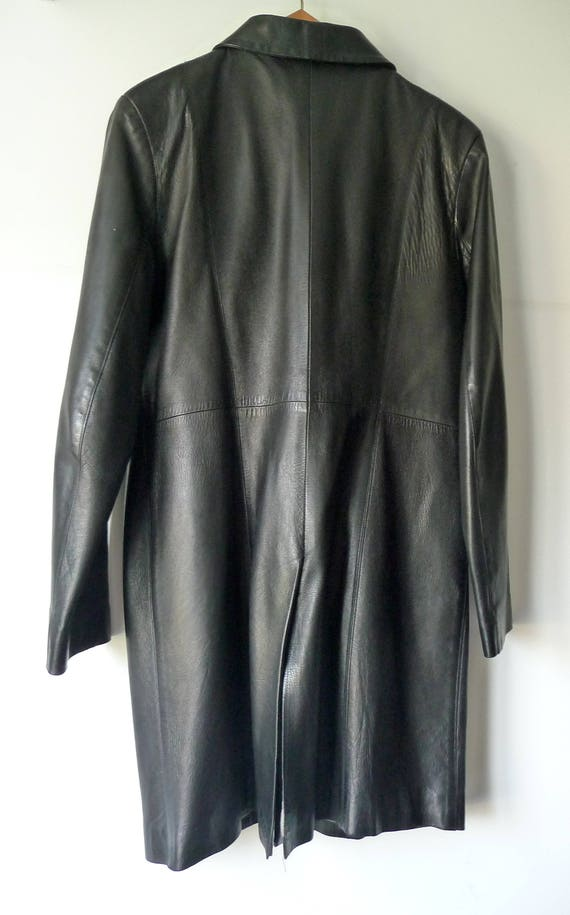 3 jacket very in SKIN coat 70 VALLEY leather leather PARIS right black 4 France Black soft Made coat lamb 80s vintage Leather aPRaxrwvqE
