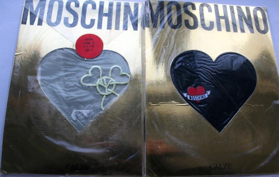 MOSCHINO LOVE VINTAGE calze 80s Genuines - Lot 2 p