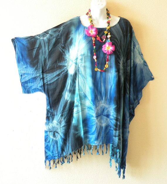 a98b340f42 Batik Tie Dye Boho Plus Size Kaftan Caftan Kimono Beachwear | Etsy