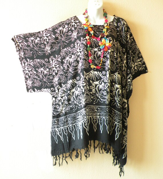 Butterfly Printed Boho Maxi Caftan Kaftan Dress or Cover Up S M L XL 1X 2X 3X
