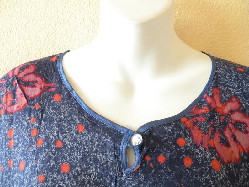 S L 1X M 2X XL Batik Floral Cotton Dolman Batwing Caftan Kaftan Tunic Abaya Boho Maxi Dress 3X