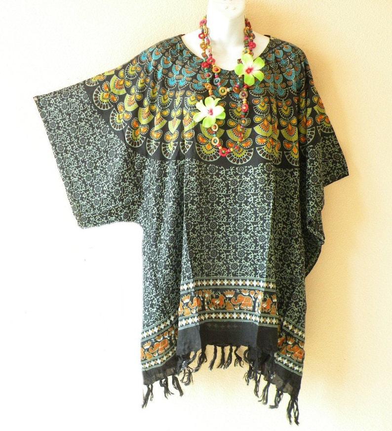 3802e64869 Batik Paisley Plus Size Kaftan Caftan Kimono Beachwear Womens | Etsy