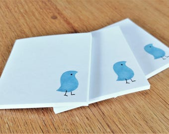 Sticky note pad with wug print