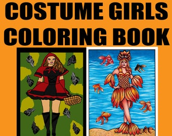 5 Digital Coloring Pages From COSTUME GIRLS