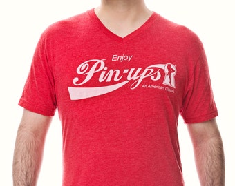 "Vintage Style ""Enjoy Pin-ups"" Unisex/Men's Graphic Tee"