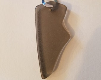 Lightning Bolt Sea Glass Pendant, One of a Kind!
