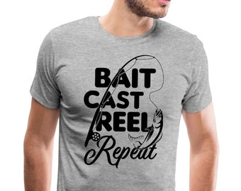 Bait Cast Reel Repeat Toddler T-Shirt Fisherman Fishing Pole Gift