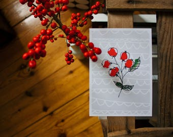 Postcard |  Winter berries