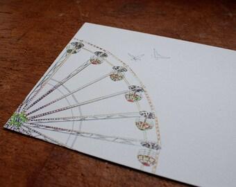 Postcard    Ferris wheel