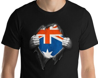 4124cedc0 Australian Flag Shirt, Australian T Shirt, Australia Tee, Australia  National Flag, Football Shirt,Soccer Shirt,DNA,Heritage gift,Pride,Roots