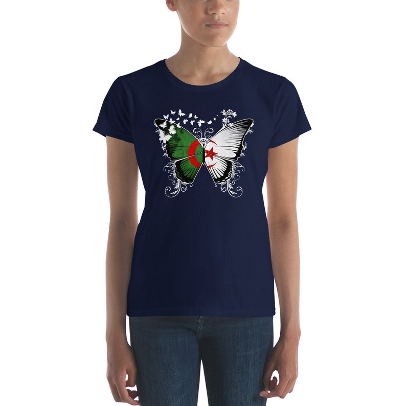 Daughter of Eritrea Eritrean Flag Map Lady Fit T-shirt White 100/% Cotton