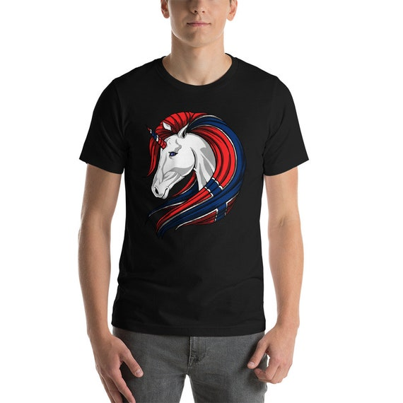 Unicorn Norwegian Flag Shirt Norwegian T Shirt Norway Shirt Etsy