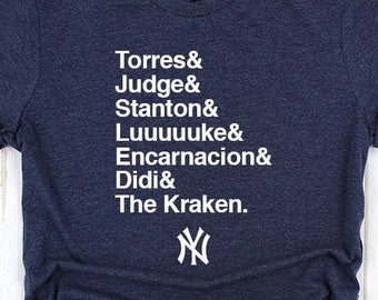 a9fda8bb80d18 Customizable Yankees Fan Tee - Torres Judge Stanton Voit Gregorious Sanchez  Encarnacion