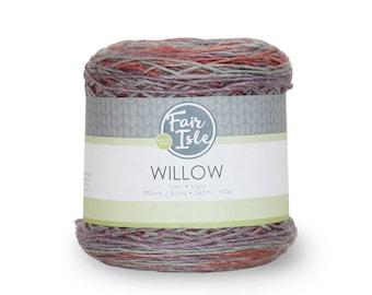 Super Wash Wool Yarn, Viscose and Wool Yarn, Light Wool Blend Yarn, Multi Color Yarn, Moody, Cake Yarn, Fair Isle Yarn, 100g