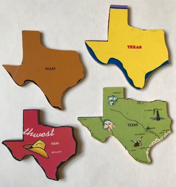 Texas Vintage Puzzle Pieces For Craft Art Decoration United States Of America