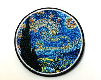 The Starry Night - Iron on Appliqué Patch