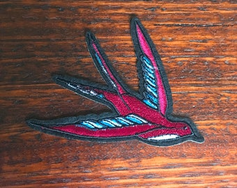 Swallow - Iron on Appliqué Patch