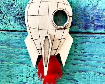 Rocket Ornament or Pendant