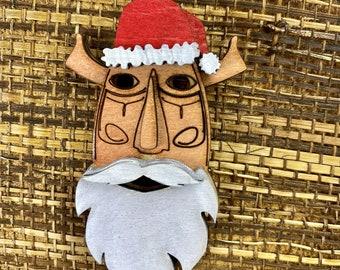 Santa Tiki Mask Ornament
