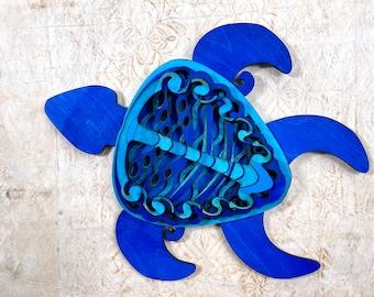 Blue Wood Turtle Honu - Madison Design
