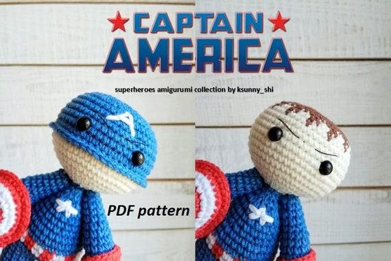 Captain America Amigurumi Puppe Rächer von Crazyamigurumi auf Etsy ... | 381x570